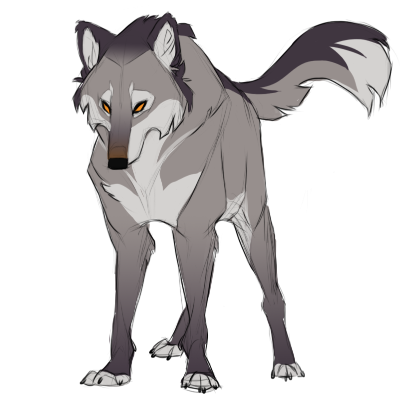 Drawing spring wolf. Silvermist male scout black