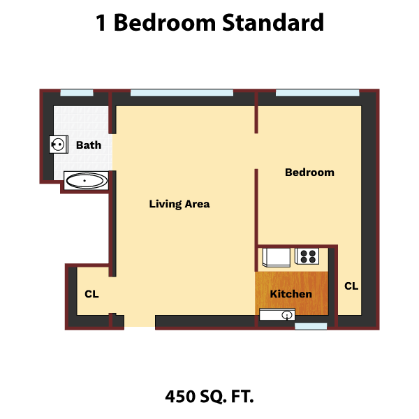 Drawing standards layout. Bedroom standard the