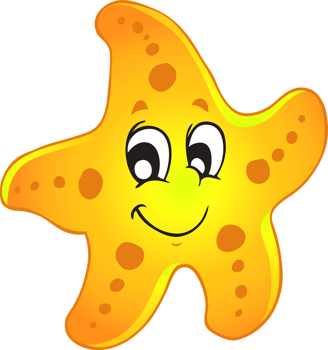 Drawing starfish baby. Collection of free babying