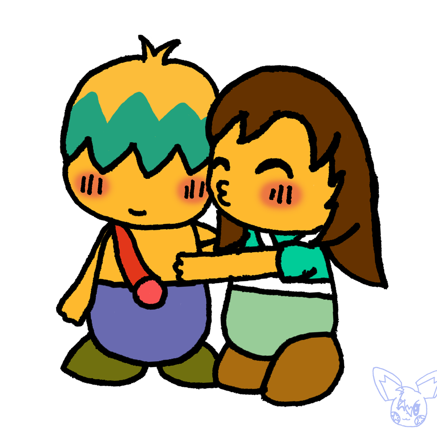 Drawing starfish chibi. Tuff and celine kiss
