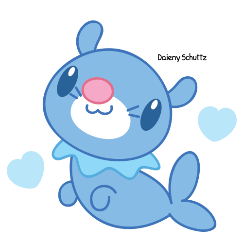 Drawing starfish chibi. Popplio by daieny on