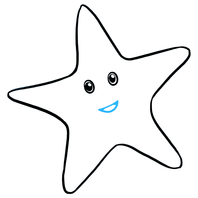Drawing starfish echinoderm. How to draw a