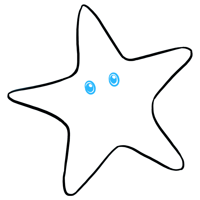 Drawing starfish line. How to draw a