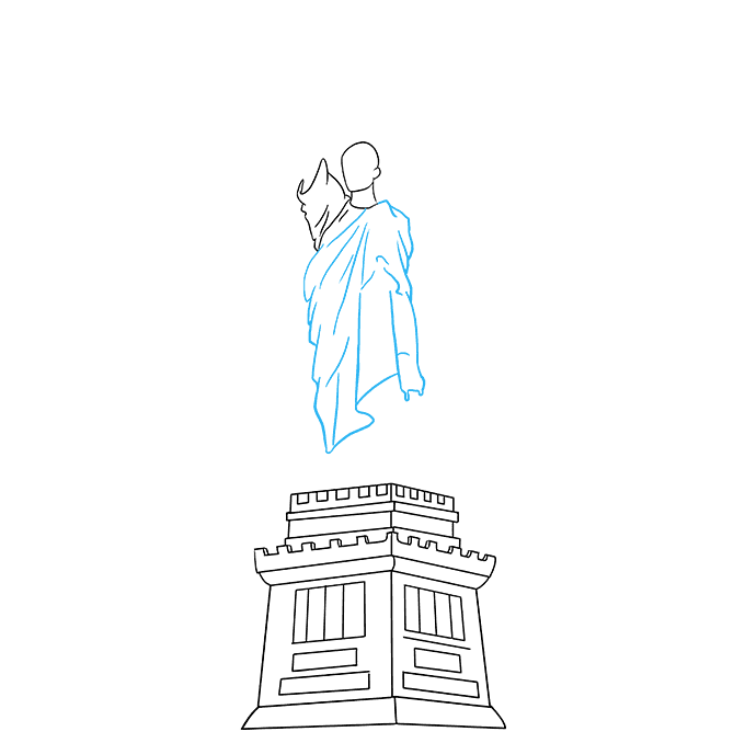 Liberty drawing illustration. How to draw the