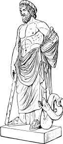 Drawing statue greek. Asklepios clip art at