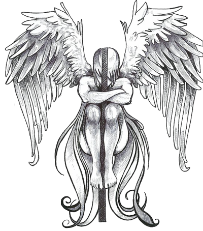 Drawing statue tattoo. Guardian angel at getdrawings
