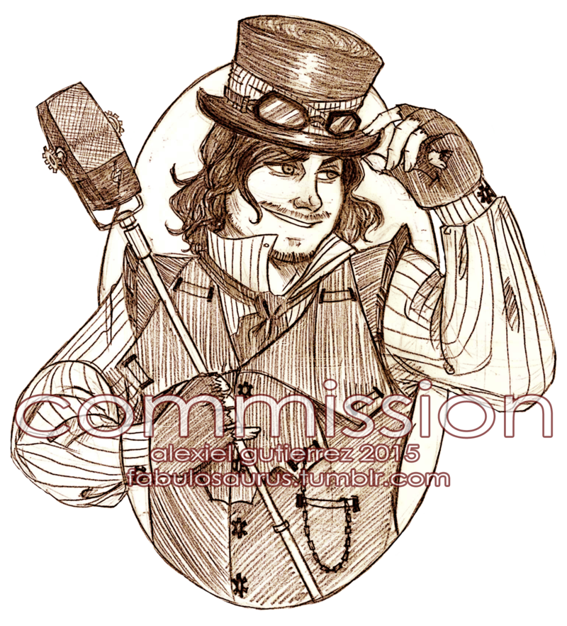 Drawing wizard. Commission steampunk sound by