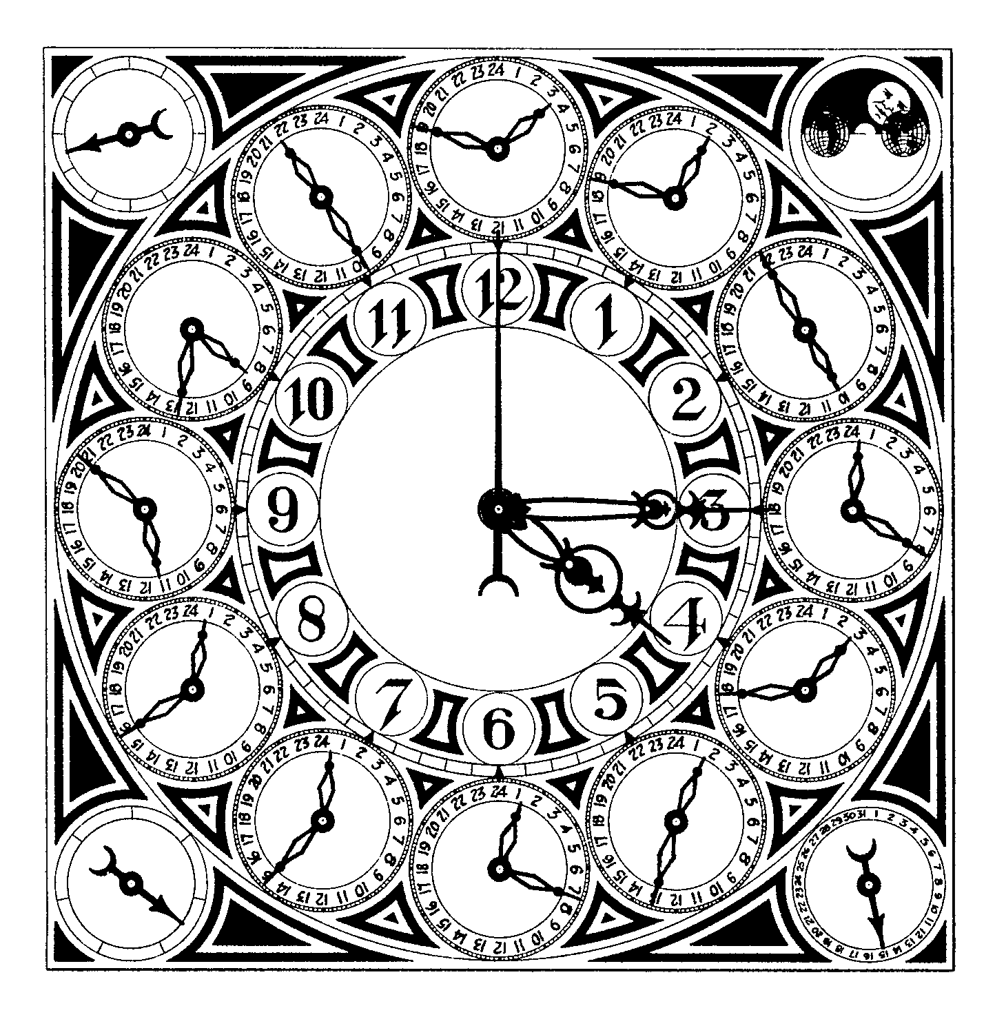 Drawing steampunk. Clock at getdrawings com