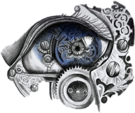 Drawing steampunk eye. Tattoo tattooart blackandwhite eyeseeyou