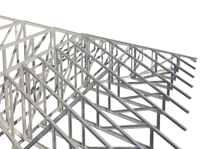 Drawing steel revit structure. Roof truss system design