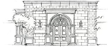 baker drawing storefront