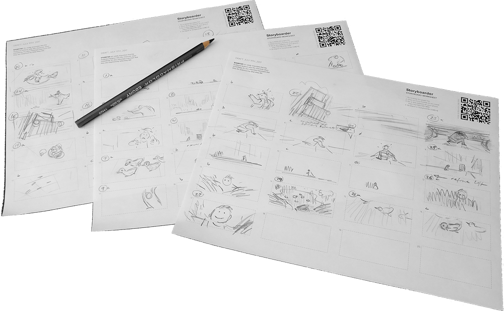 Drawing storyboard simple