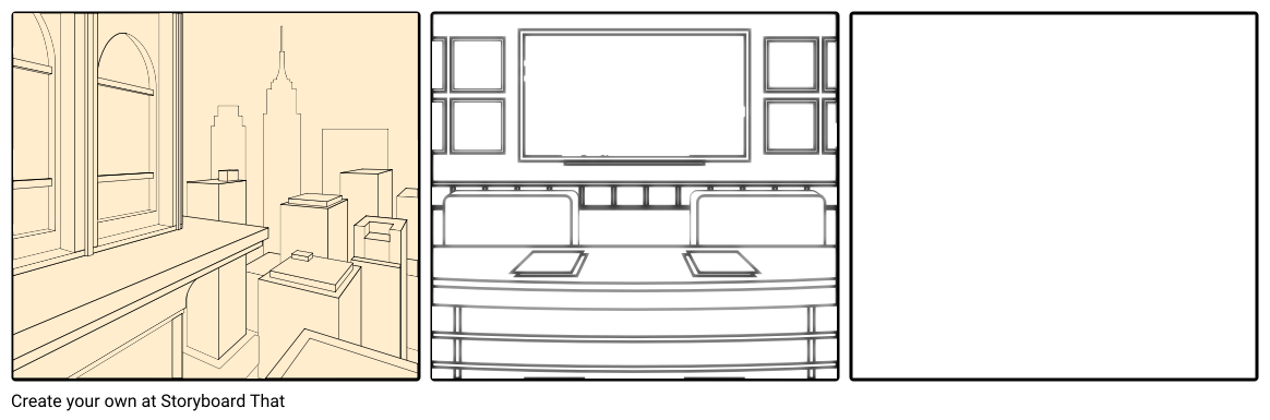 Drawing storyboards line. Testing background storyboard by