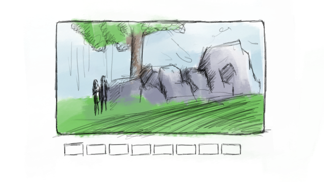 Drawing storyboard soccer. Storyboarder and after effects