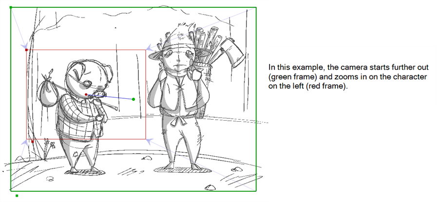 Drawing storyboard camera movement. Pro online help animating