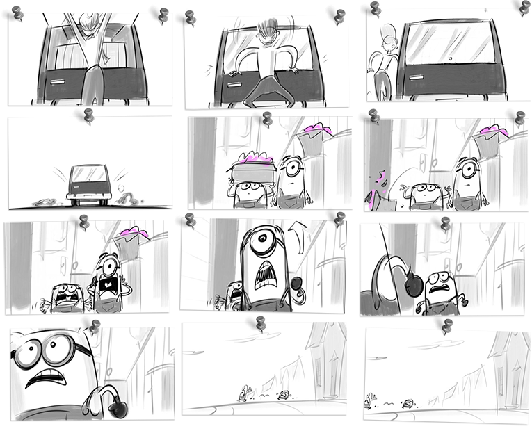 Drawing storyboard computer animation. This is for the