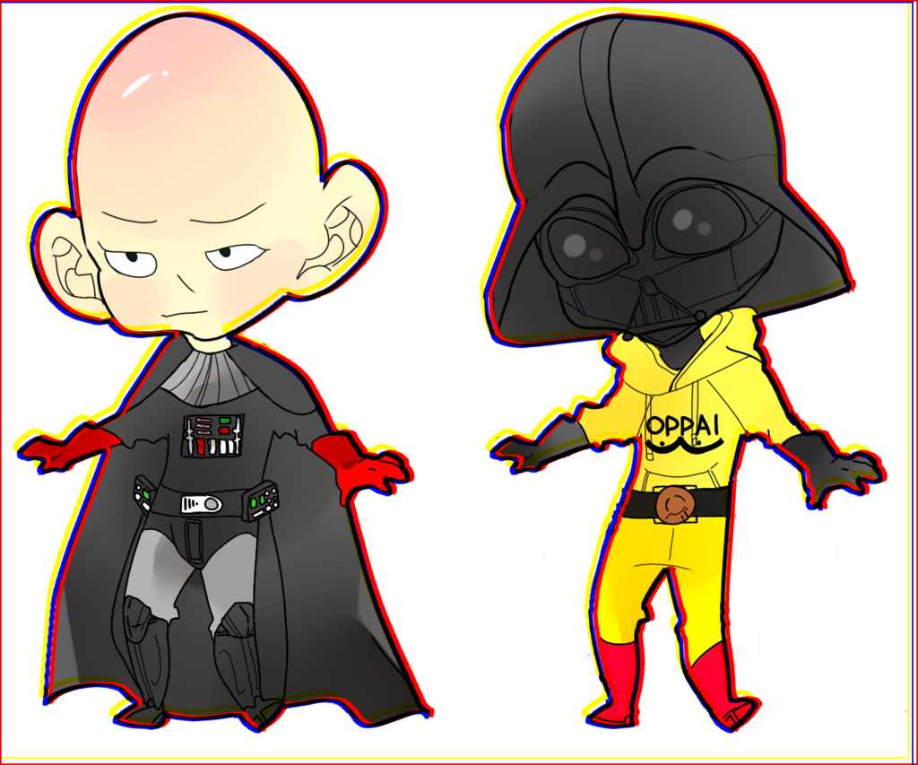 Drawing storyboard one punch man. X star wars by