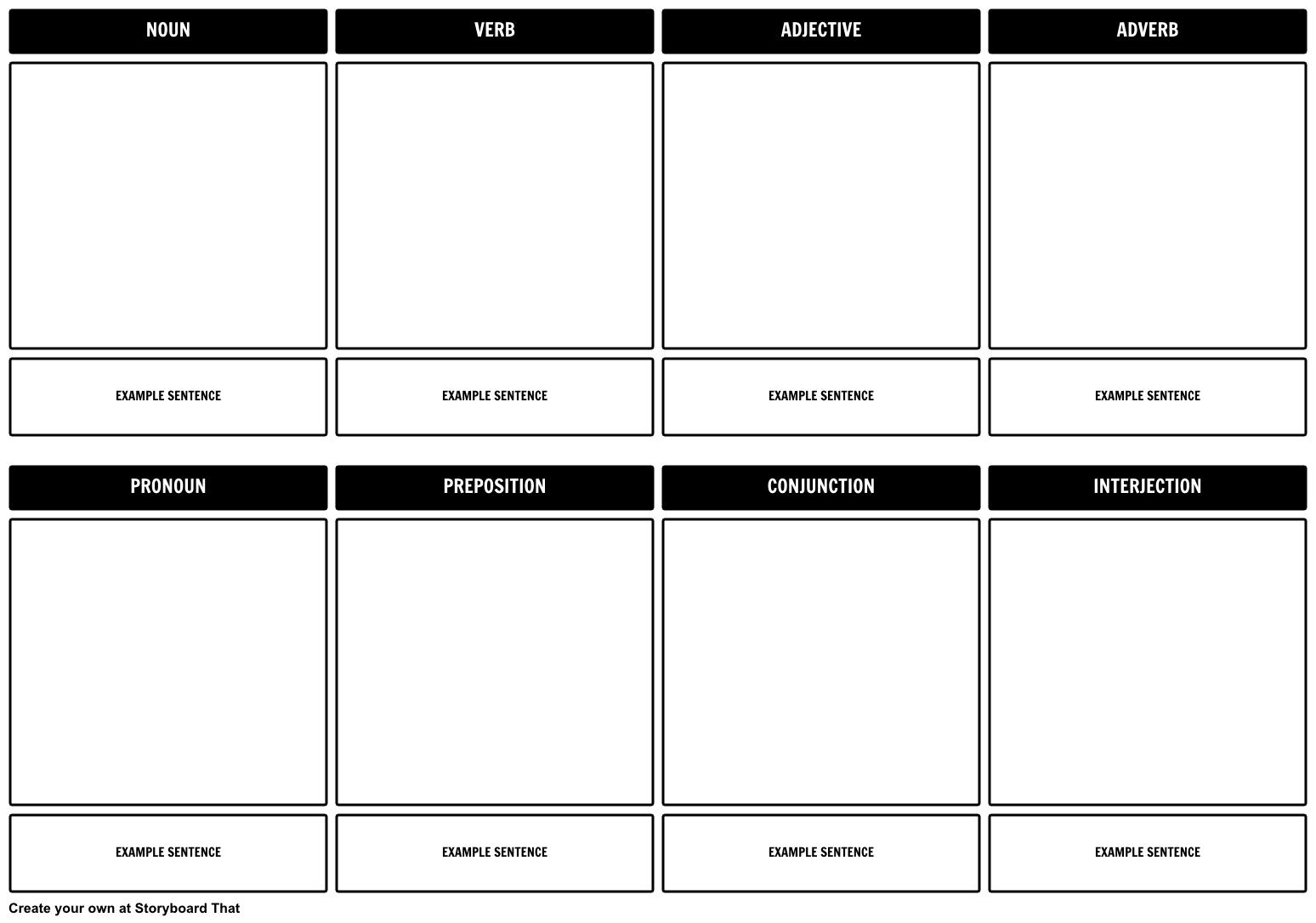 Drawing storyboard pdf. Parts of speech