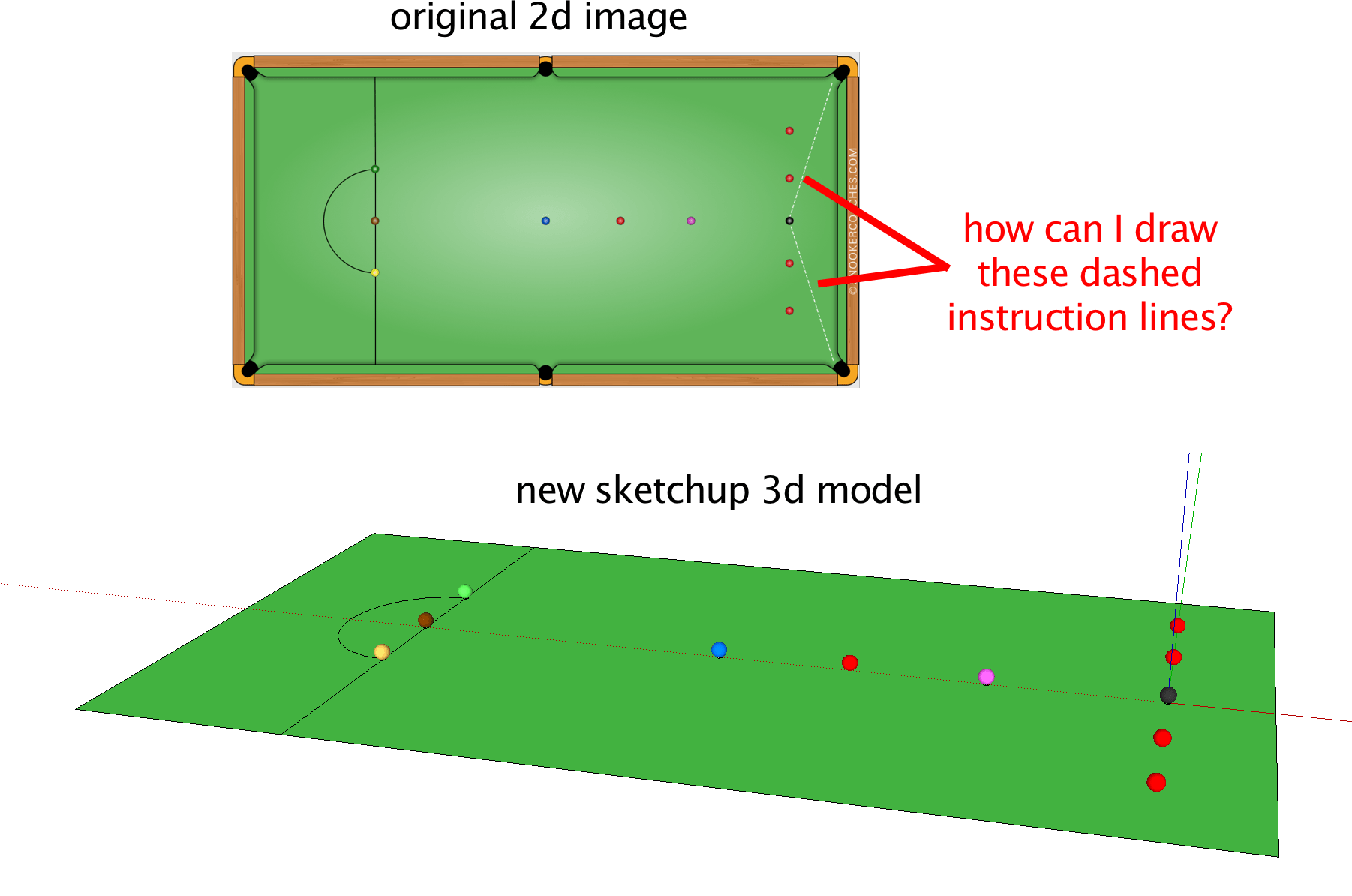 Drawing storyboard sketchup. Instruction lines in d
