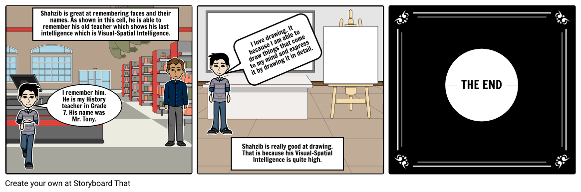 Drawing storyboard visual. Comic by bfcca c
