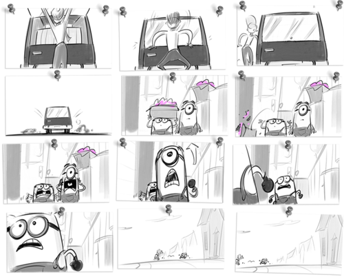 Drawing storyboard full. Despicable me storyboards art