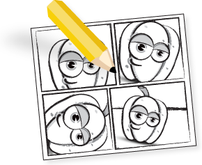 Drawing storyboards creative. Video explainer development pepperweb