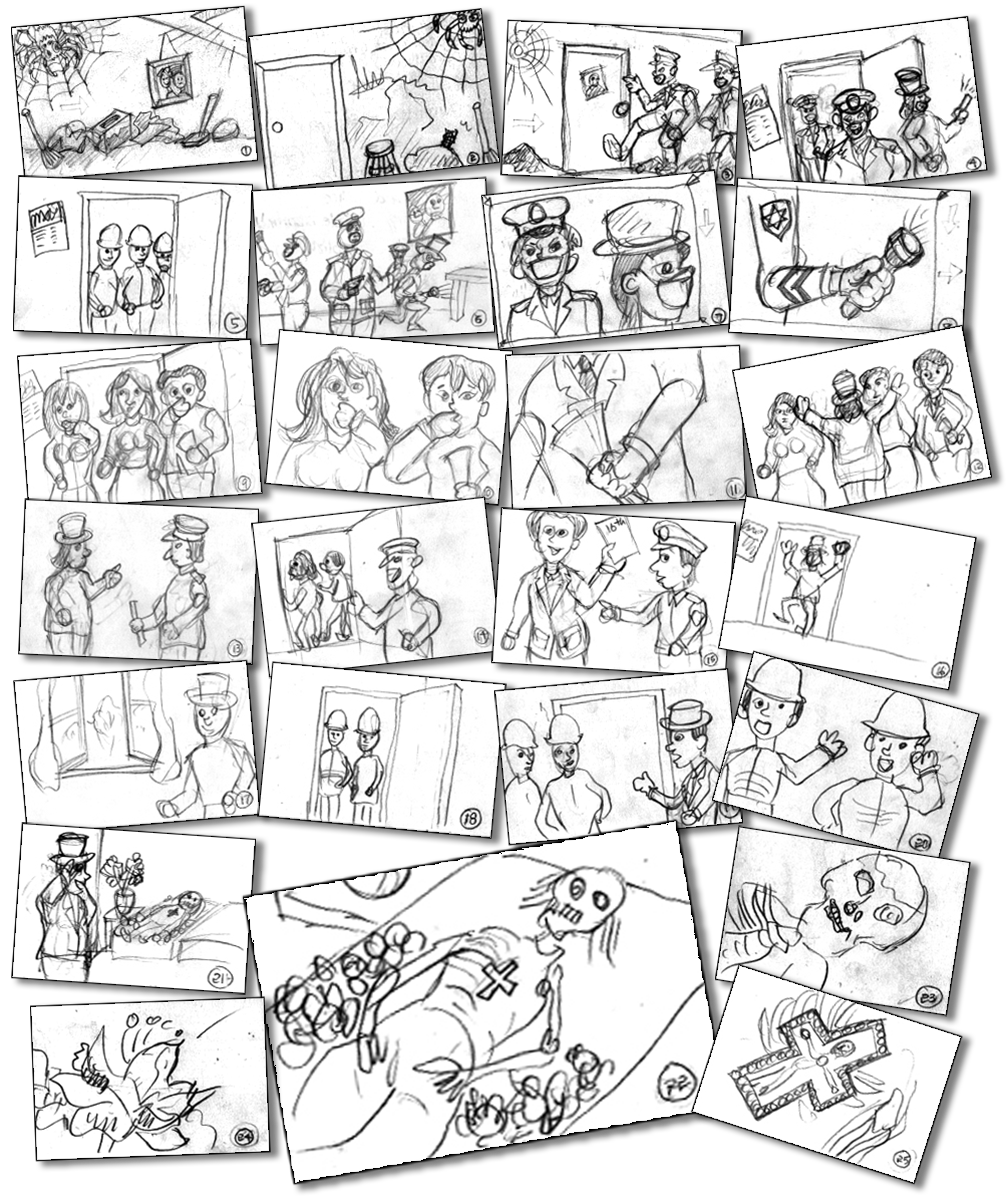 Drawing storyboards line. My artistic expressions the