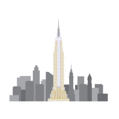 Drawing structures building nyc. Empire state clipart icons
