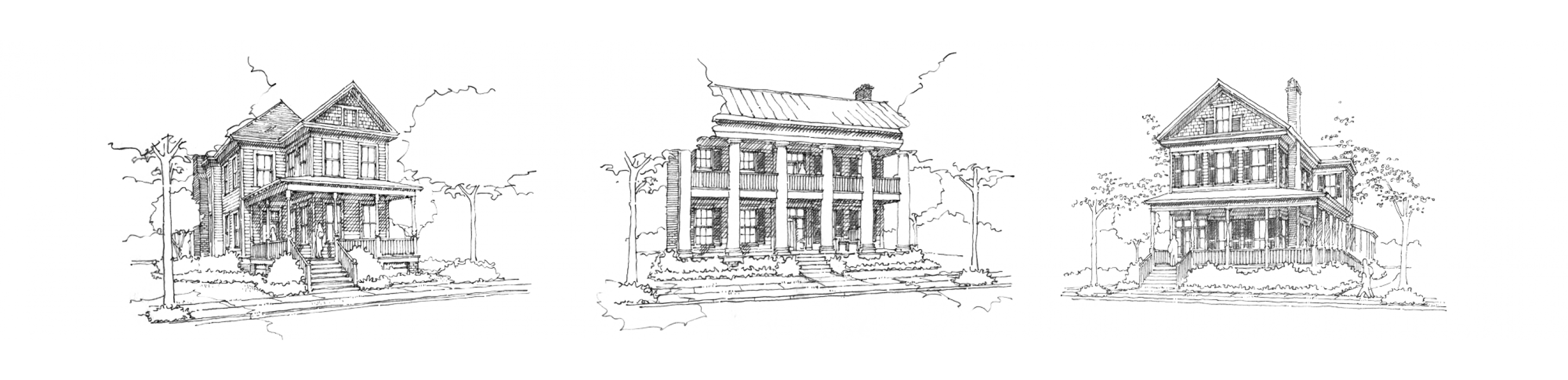 Growth drawing building. Historical concepts communities towns