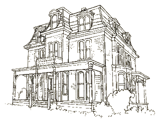 Drawing structures mansion. The victorian house styles