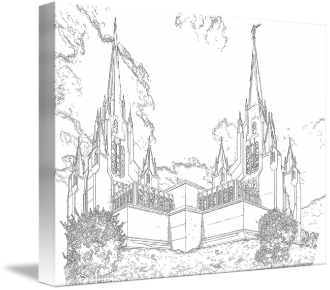 Drawing structures pen. San diego temple ink