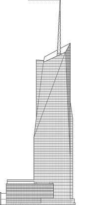 Drawing structures building nyc. Bank of america tower