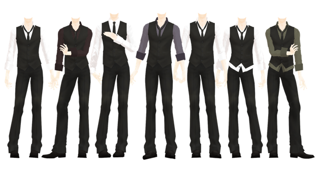 Drawing suits. Mmd dl series more