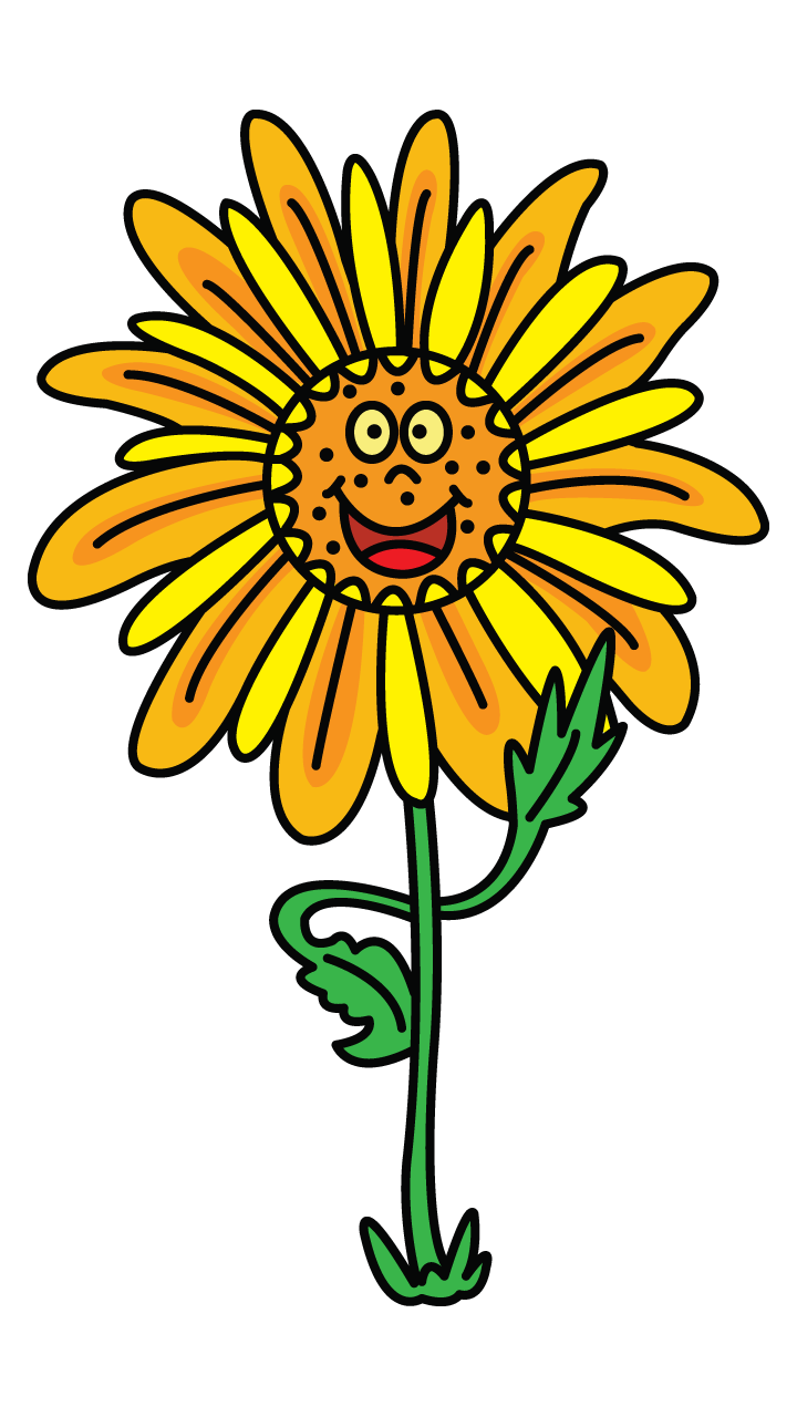 Drawing sunflowers cute. Check out this happy