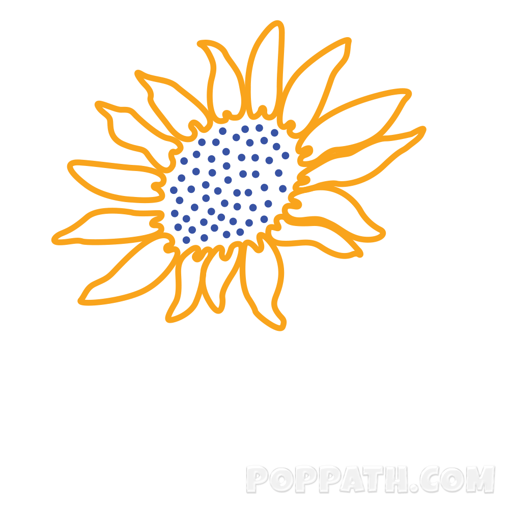 Drawing sunflowers step by. How to draw a