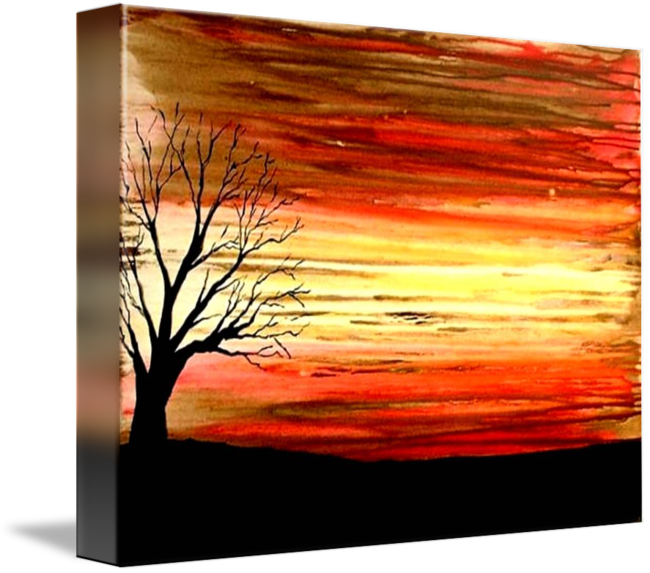Drawing sunset abstract. Beautiful by teo alfonso
