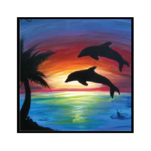 Drawing sunset watercolor. Dolphin tattoo google search