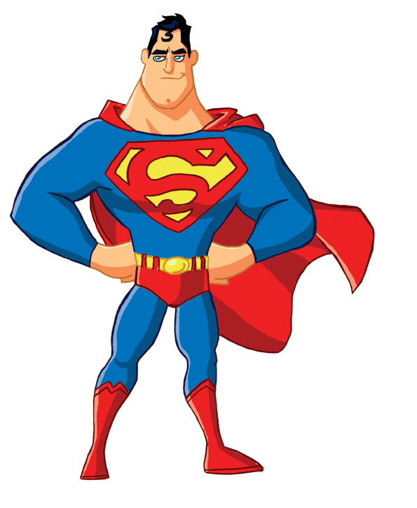Drawing superman. Free download best on