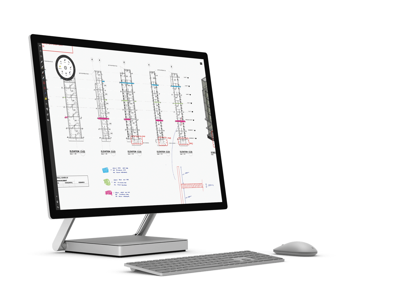 Drawing surface studio. Drawboard pdf on