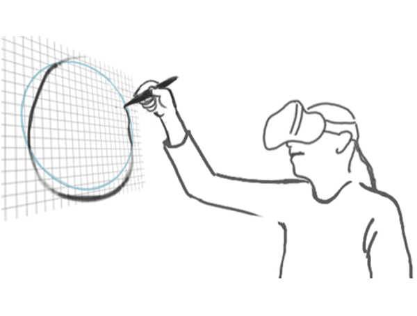 Badminton drawing sport. Experimental evaluation of sketching
