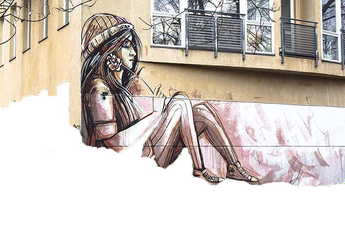 Drawing surfaces artwork. Street art is a