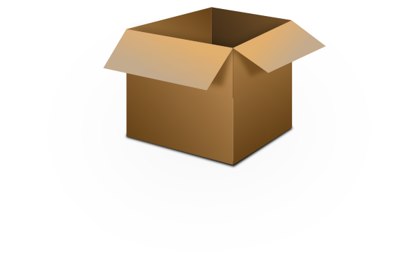 Drawing surfaces cardboard. Picture of small box
