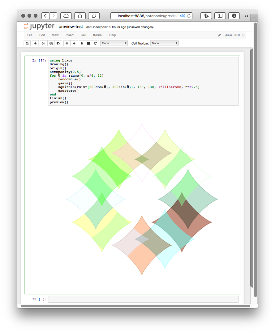 Drawing surfaces duce drawings. Basic graphics luxor jupyter
