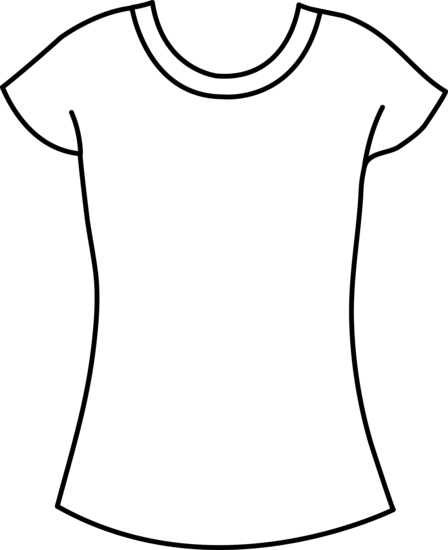 Vector tee blank. T shirt drawing at