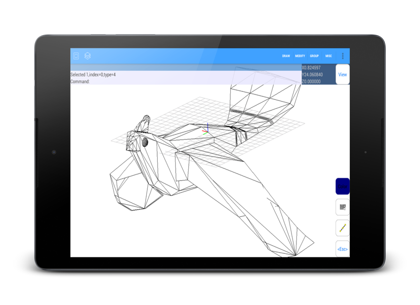 Samsung drawing cad. Android autoq d create