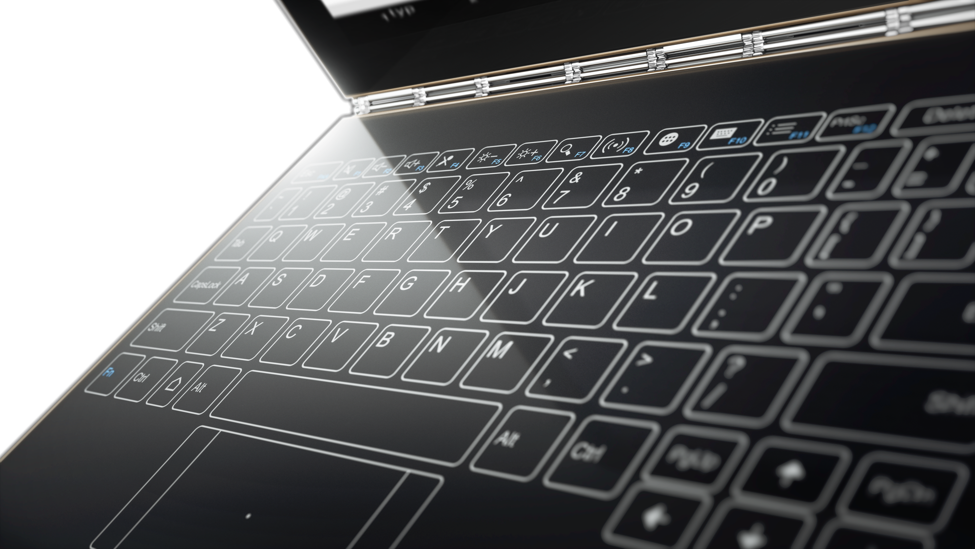 Drawing keyboard electronic computer. Lenovo launches yoga book