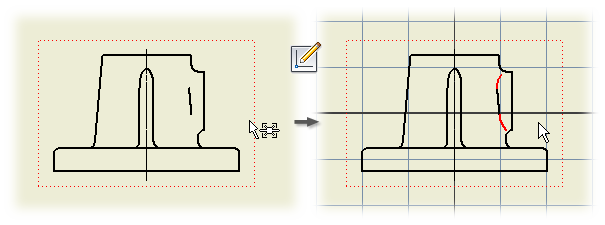Drawing tab architecture. Sketches in drawings inventor