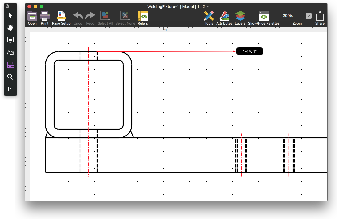 Drawing mac floor plan. Dwg viewer view and