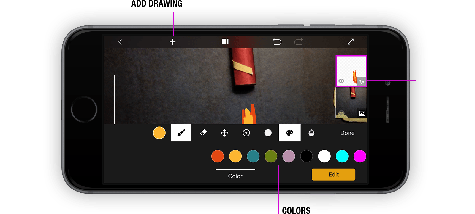 Drawing tab ios. Support stop motion studio