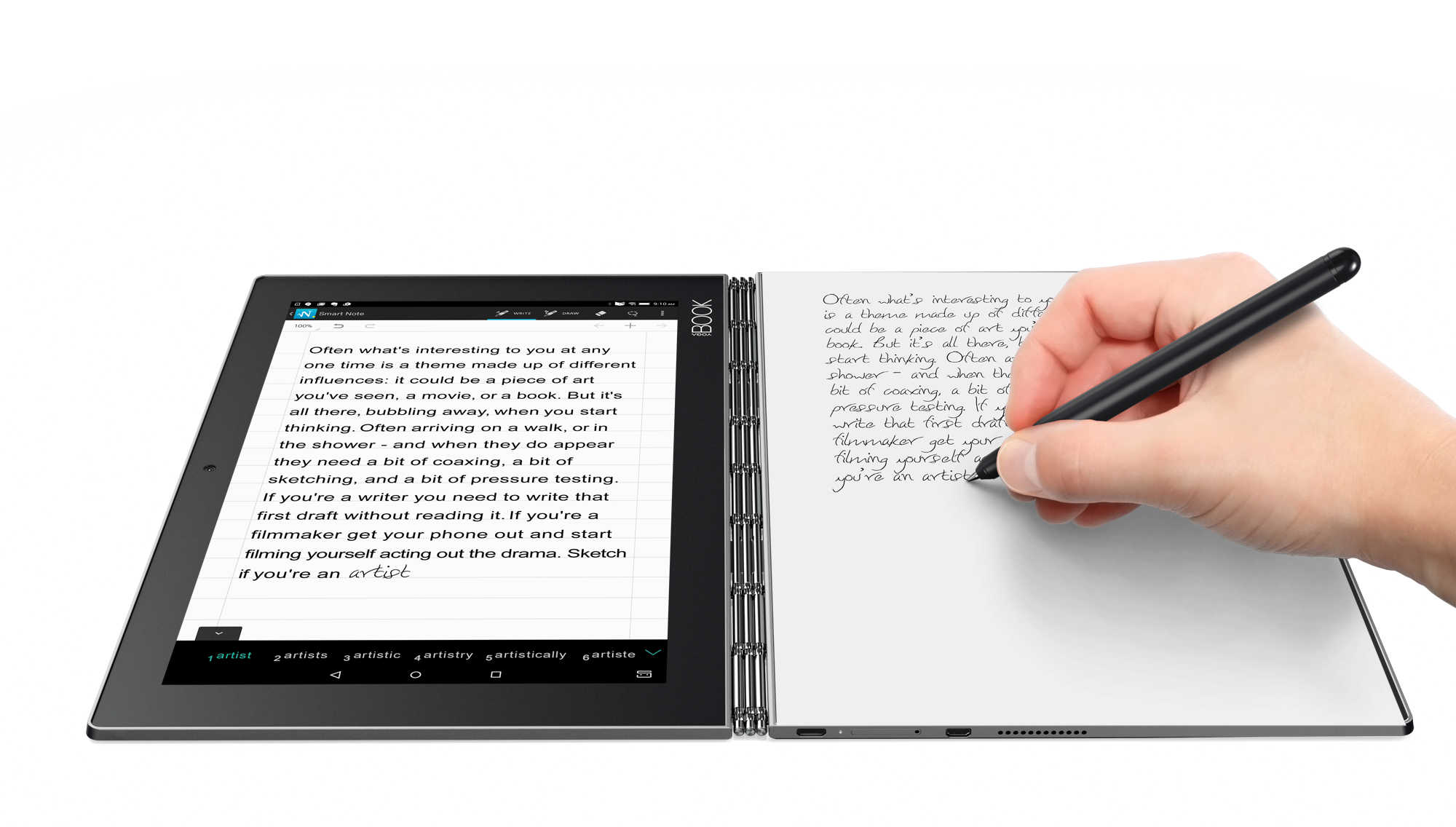Drawing tab paper. Lenovo launches yoga book